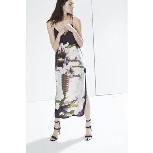 Rebecca Minkoff Graphic Floral Silk Slip Dress